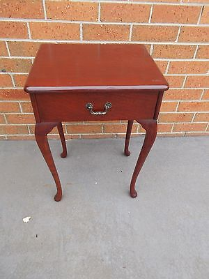 Vintage Mid Century Queen Anne Bedside Table Bedroom Furniture Night Stand