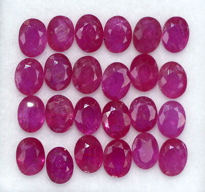 Natural Ruby Oval Cut 4*3 mm 1.94 Cts Lot 10 Pcs Red Shade Loose Gemstones