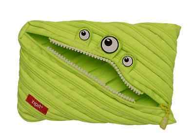 Zipit® Monster Jumbo Pouch Pencil Bag 15x23cm Made from One Long Zipper -Lime