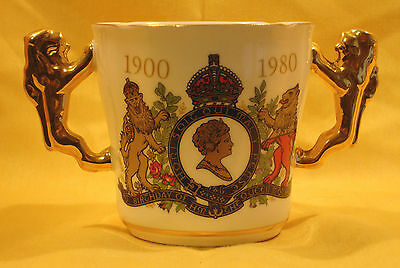QM21 Queen Mothers 80 Birthday Small Loving Cup by Paragon