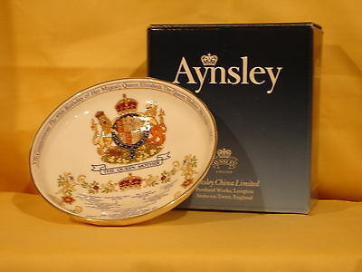 QM07 Queen Mother  Footed Dish for 95th Birthday  by Aynsley