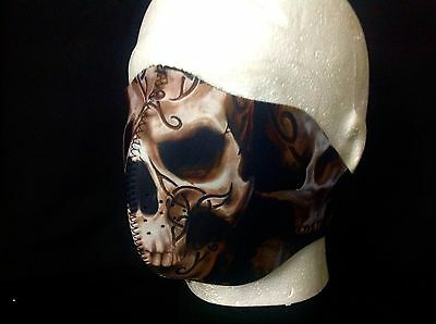 Biker Mask Bone Skull  Neoprene Half face mask