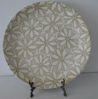 Retro Dinner Plate Crown Lynn New Zealand Clematis