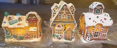 3 Lighted Gingerbread Houses