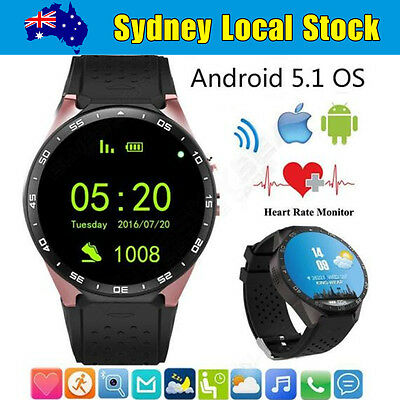 Wifi Bluetooth Smart Watch Cam GPS SIM Card For Android HTC Huawei IOS iPhone AU