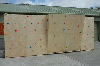 Climbing Wall Panel Complete Kit with holds and Bolts