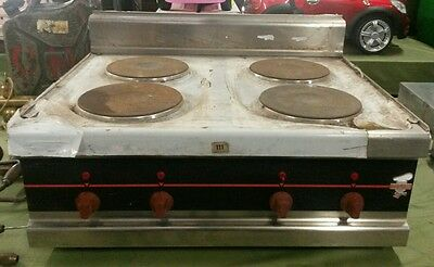 4 Hob Olis Commercial Electric 4000w Cooker