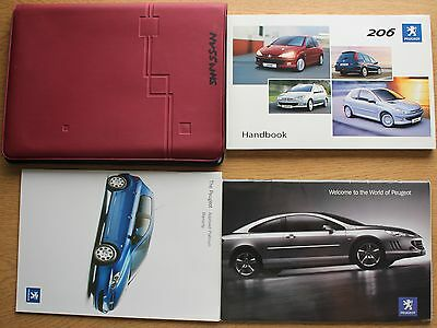 Peugeot 206 Owners Manual Handbook Wallet Wallet 2003-2009 Pack 11483