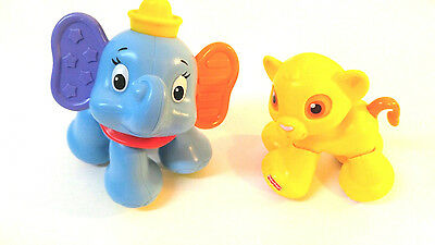 Dumbo & Simba Disney  LION KING Fisher Price Clicks Baby Toys
