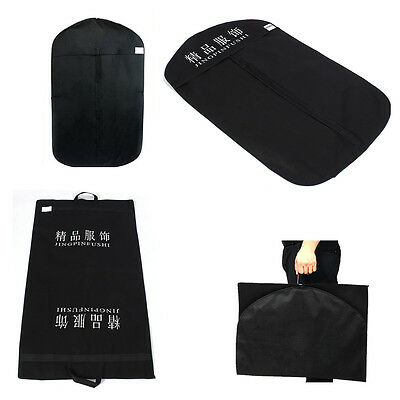 Black Suit Cover Garment Clothes Carrier Storage Protector Bag Travel Outside SS