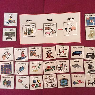 Mini Activity Now And Next Board pecs - Autism, Special Needs, learning