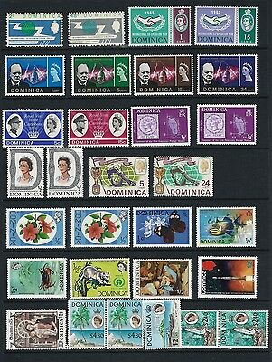 Dominica Mnh, Mh And Used  On 3 Stock Card Sides