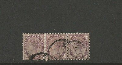 GREAT BRITAIN = 1881 1d ~ see scan [#235] victoria strip of 3