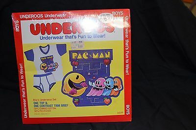 Vintage PAC-MAN Underoos Top & one Brief size small (2-4) NEW NEVER OPENED 1982