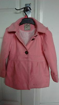 Girls Next Pink Coat age 4-5