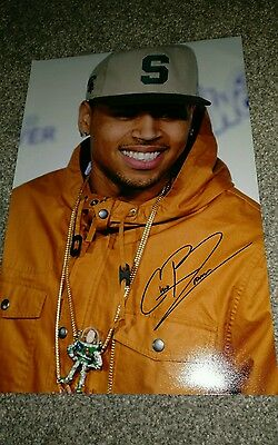 Chris Brown Genuine Autograph - with COA