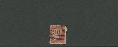 GREAT BRITAIN ~ 1d penny red ~ 298 cancel ~ see scan [#261] victoria