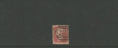 GREAT BRITAIN ~ 1d penny red ~  285 cancel ~ see scan [#262] victoria