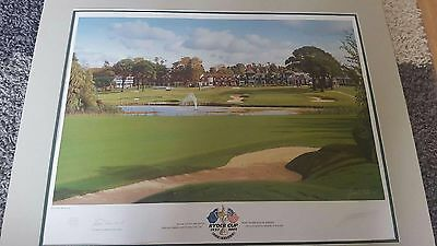 Limited Edition Ryder Cup Belfry 18th Hole Graham Baxter Print 2001 Signed