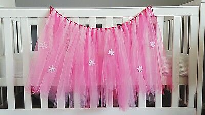 Pink Tutu Wall Hanging Baby Decor Flowers Tulle