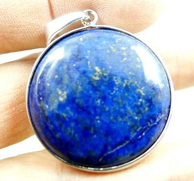 32*32MM Natural picture lapis lazuli agate pendant Gemstone Loose Beads A26