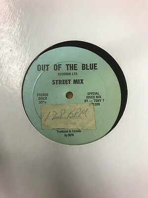 "12"" Out Of The Blue Street Mix Tony T"