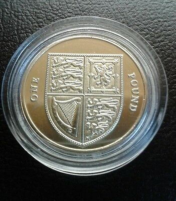 2016 Shield of the Royal Arms £1 coin Brilliant /Uncirculated (last round pound)