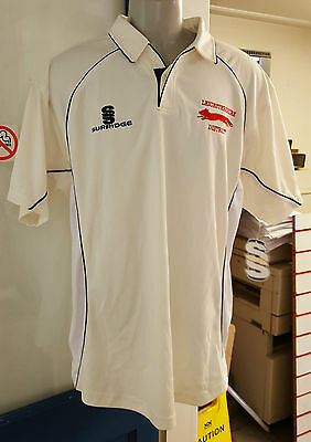 Leicestershire Ccc Surridge Cricket Shirt Top Sz Large New Leicester Whites