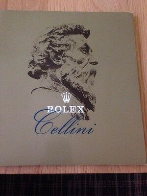 Genuine vintage Rolex Cellini brochure/catalogue and price list 1977