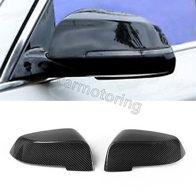 Carbon Fiber Rearview Side Mirror Covers Caps Fit For BMW F10 LCI 2014-2016