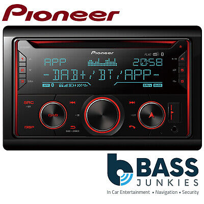 Pioneer FH-X840DAB Double Din USB MP3 AUX DAB Bluetooth iPod iPhone Car Stereo