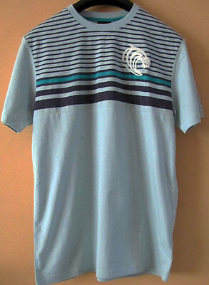 Canterbury Rugby Leicester Tigers Starlight Blue Striped Tee - Size Large