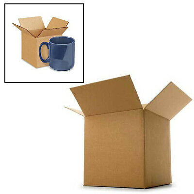 "Cardboard Postage Boxes Postal Mail Pottery Mug Cup Box Single Wall 5"" x 5"" x 5"""
