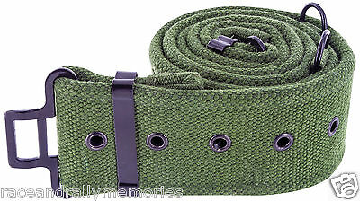 New 1958 58 Pattern Olive Green Canvas Webbing British Army Style Military Belt
