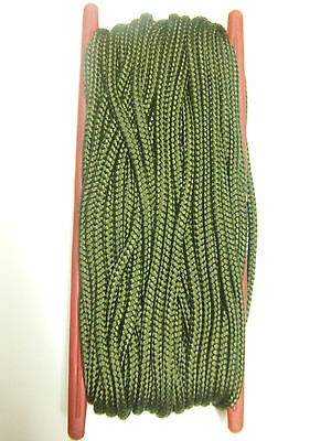 50FT GREEN NYLON ARMY STYLE PARA CORD PARACORD ON SPOOL - camping, decoy line