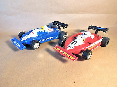 Vintage Hornby Scalextric pair of Ferrari F1 cars