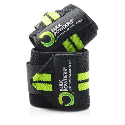 Bulk Powders™ Gym Wrist Wraps Weight Training & Powerlifting Hand Support Straps
