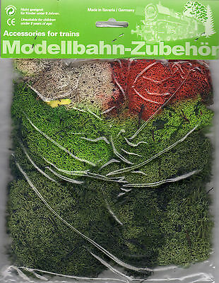 Mixed Colour Lichen Moss ~ Scenery For Model Rail Ho, N & Z Gauge, Brand New