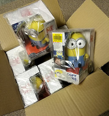 6 x Wholesale Joblot Despicable Me Minion Soft Spot Light Kids Bedroom Night Toy