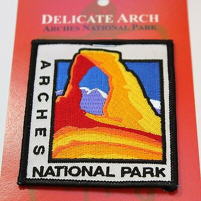 Official Arches National Park Souvenir Patch - Delicate Arch - Moab Utah