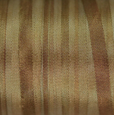 Silk Ribbon for Embroidery 4mm - 3 meters Walnut
