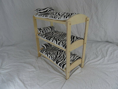 american girl style doll triple bunk bed handcrafted in vermont