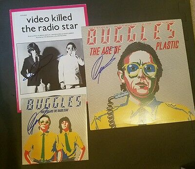 The Buggles The Age Of Plastic Geoff Downes Signed - Video Killed the Radio Star