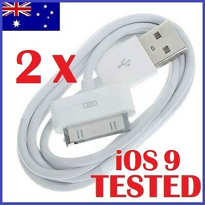 1M USB Data Cable Sync Charger for Apple iPhone 4 4S 3GS 3 iPod Touch iPad white
