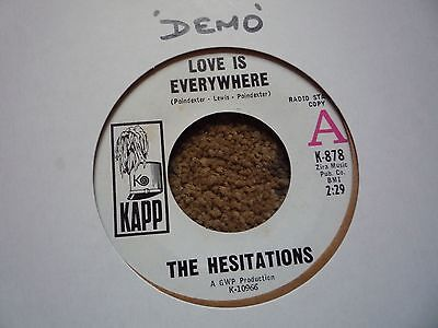 "Northern Soul 7"" Singles The Hesitations Love Is Every Where"