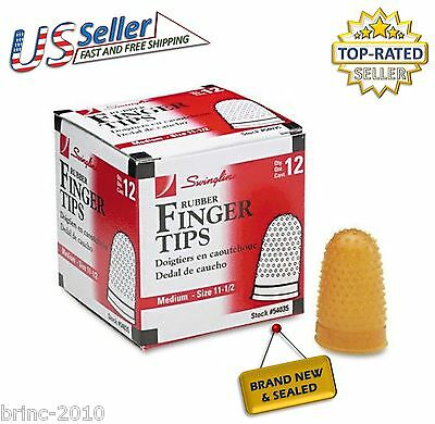 Swingline Rubber Finger Tips, Size 11 1/2, Medium, 12/Box (54035) Fast Shipping