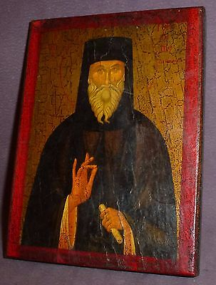 18th Century Russian Icon Wooden Orthodox Wonderful Detail Worn With age Rare