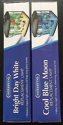 2 X Interpet Replacement Bulb - Bright Day / Cool Blue Moon - 15W