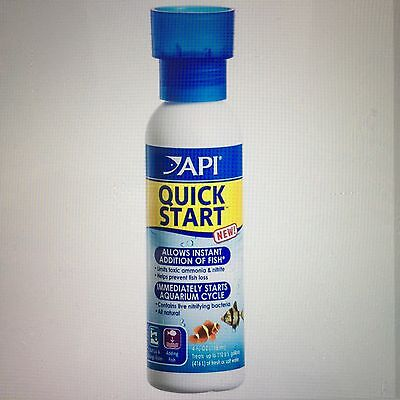 4 X API Quick Start Aquarium Water Treatment ( 4 bottles of 118ml)-- TOTAL 472ml