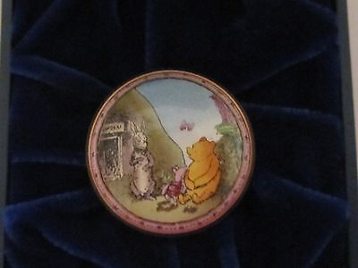 "Halcyon Days Enamels Winnie The Pooh ""What I Like Best is doing nothing"" Rare"